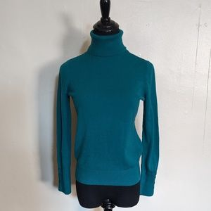 Teal turtle neck